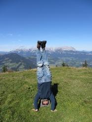 Hahnenkamm Headstand, Kitzbuhel, Austria