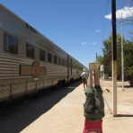 Indian Pacific Headstand, Cook, SA, Australia