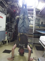 HMAS Onslow Headstand, Sydney, NSW, Australia