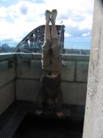 Sydney Harbour Bridge Headstand, Sydney, NSW, Australia