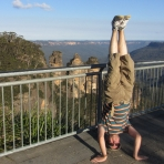 Three Sisters Headstand, Katoomba, NSW, Australia