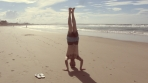 Byron Bay Headstand, NSW, Australia