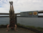 Most Easterly Headstand, Cape Byron, NSW, Australia