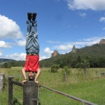 Nimbin Rocks Headstand, NSW, Australia