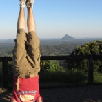 Glass House Mountains Headstand, QLD, Australia