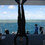 Great Barrier Reef Headstand, QLD, Australia