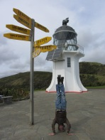 Cape Reinga Headstand, New Zealand