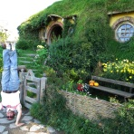 Bag End Headstand, Hobbiton, New Zealand