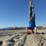 Santa Monica Beach Headstand, Santa Monica, USA