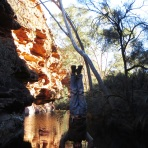 Watering Hole Headstand, Kings Canyon, NT, Australia
