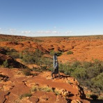 Kings Canyon Headstand, NT, Australia