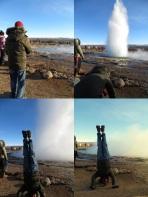 Geyser Headstand, Iceland
