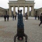Brandenburg Gate Headstand, Berlin, Germany