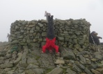 Scafell Pike Headstand, Scafell Pike, Cumbria, UK