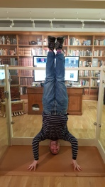 Terry Pratchett's Office Headstand, Salisbury Museum, Salisbury, UK