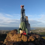 Arthurs Seat Headstand, Edinburgh, Scotland