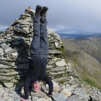 Old Man Of Coniston Headstand, Consiton, Cumbria, UK